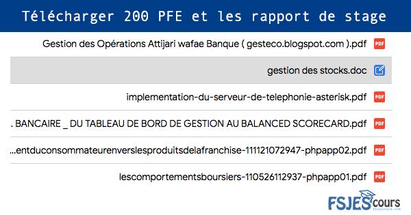 Telecharger 200 Projet De Fin D Etude Pfe Et Les Rapport