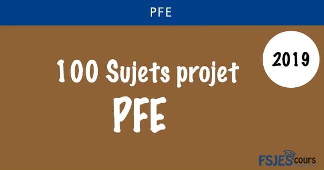Sujets projet de fin d'études ( PFE ) 2019
