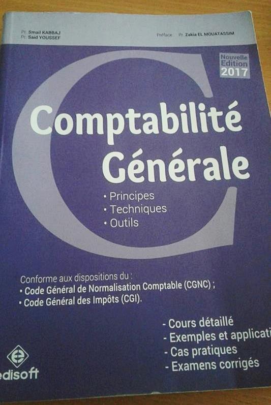 livre de comptabilité générale