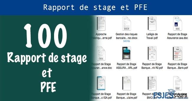 Meilleur 100 Rapport De Stage Et Pfe Fsjes Cours