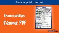 Finance publique résumé s4