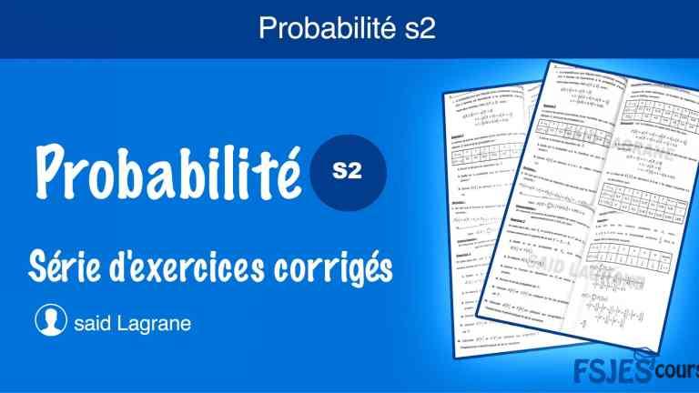 Exercices probabilité avec corrigés