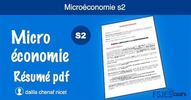Microéconomie résumé s2