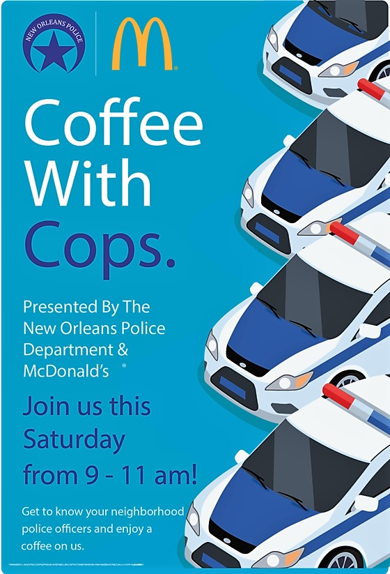 YOU ARE INVITED TO HAVE COFFEE WITH COPS