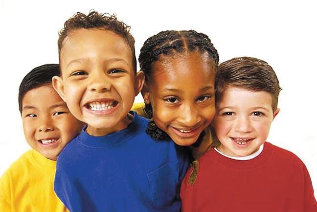 Smiling Diverse Kids