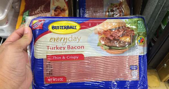 image relating to Butterball Coupons Turkey Printable identified as Butterball Turkey Bacon, Basically $0.74 at Walgreens Yourself Held
