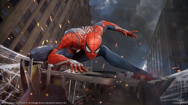 the ps4 spider man