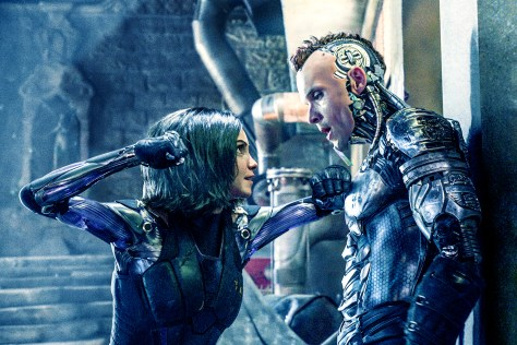 Rosa Salazar & Ed Skrein in Alita: Battle Angel