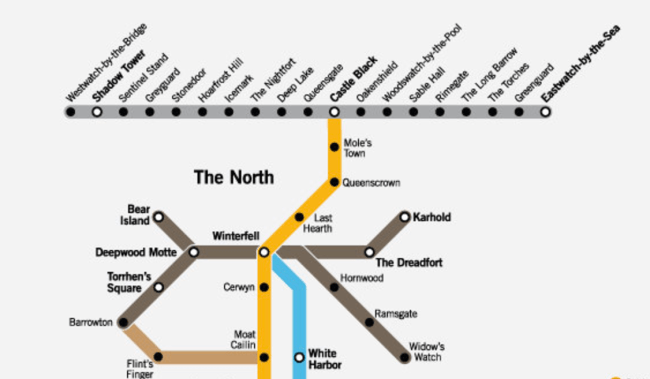 hight resolution of the north and the wall lines