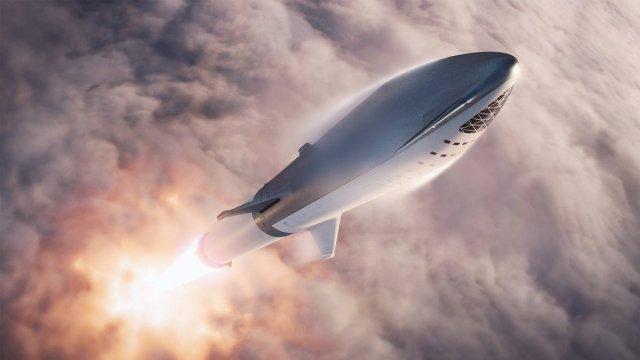 BFR di SpaceX in azione.