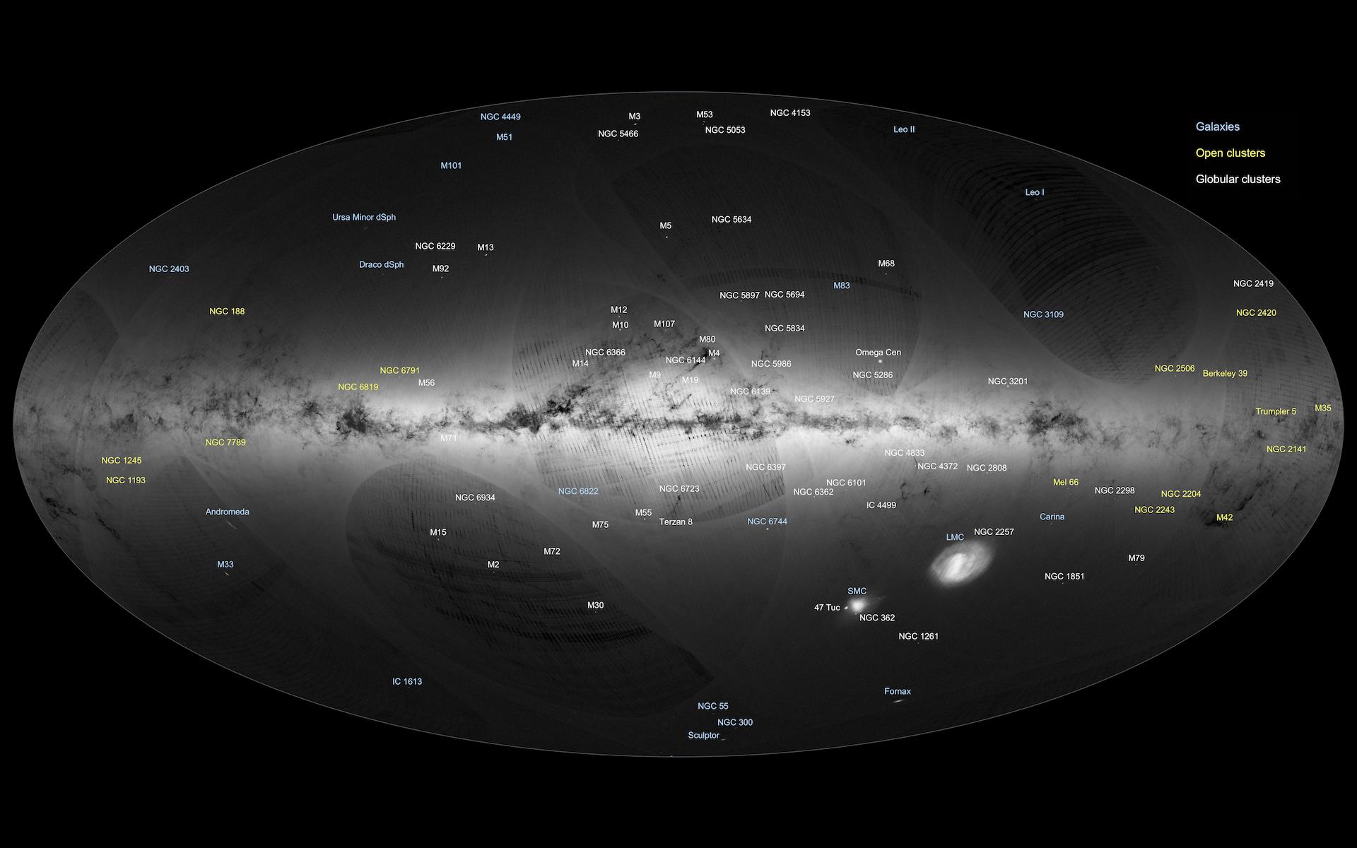Esa Releases Billion-star Atlas Of Milky Inverse
