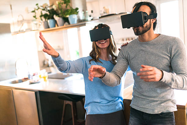 Couple using the VR simulator at home - Credit to https://www.lyncconf.com/