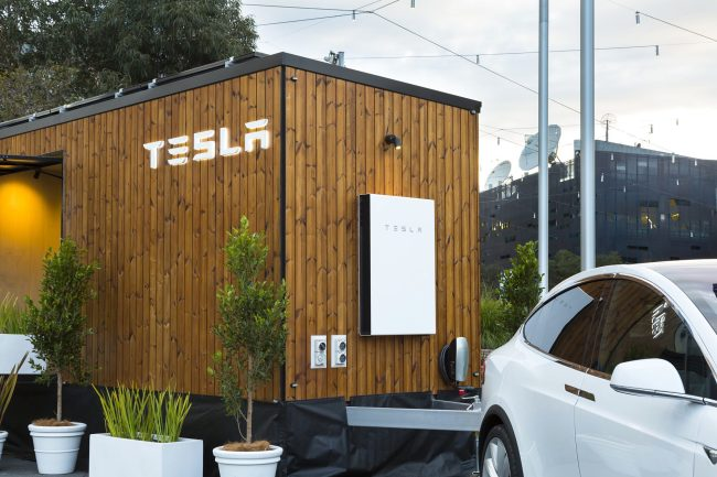A Model X Is Currently Towing A Tesla Tiny House Around