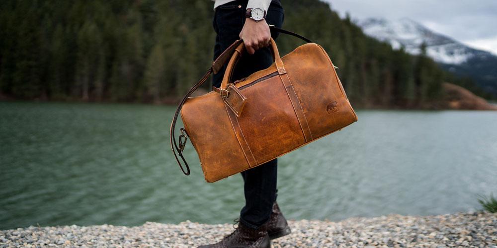 kodiak leather weekender duffel