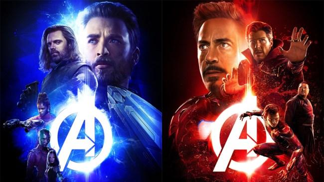 5 infinity war posters