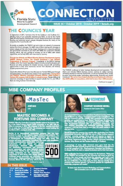 Newsletters - Florida State Minority Supplier Development