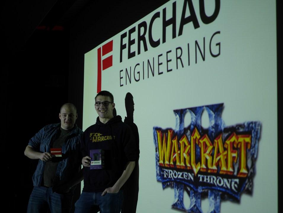 Sieger des Warcraft III Turniers.