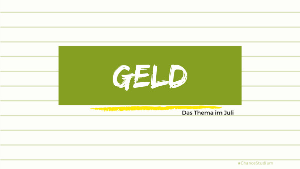 Webinare für Studis im Juli: Keine Angst vor Geld
