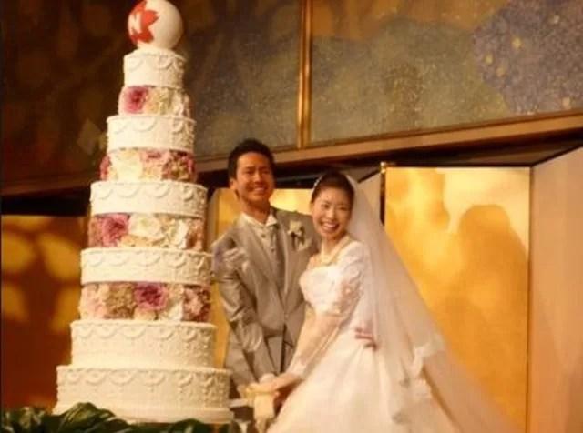 川鍋一朗と川鍋文子の結婚式の画像