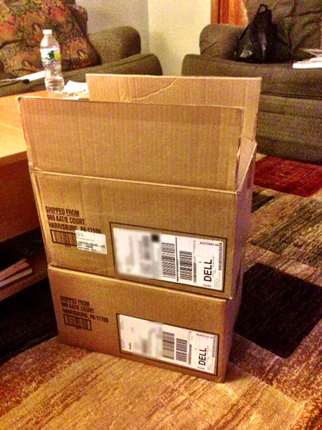 Internet Buyer Receives Laminate Flooring After Ordering a 5D MKIII From Dell - Boxes 2
