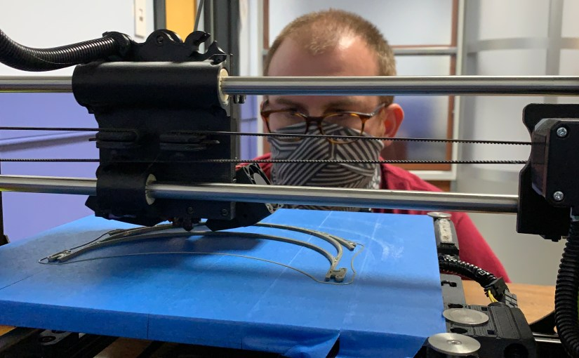 3D-printing COVID-19 face shields at the FSU Libraries