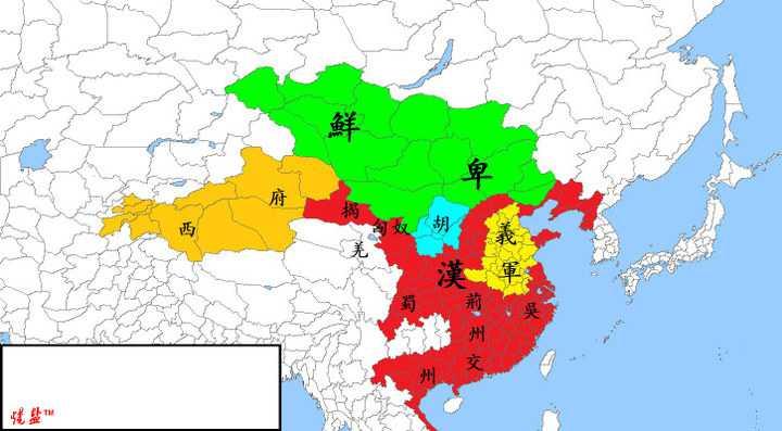 一分鐘 看完中國 五千年歷史。原來中國 是這麼形成的! 看到最後一張右下角 小綠點 有點心酸...