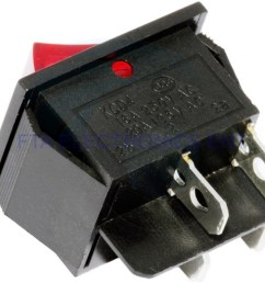 red button on off 4 pin dpst boat rocker switch 16a 250v 20a 125v ac  [ 1024 x 768 Pixel ]