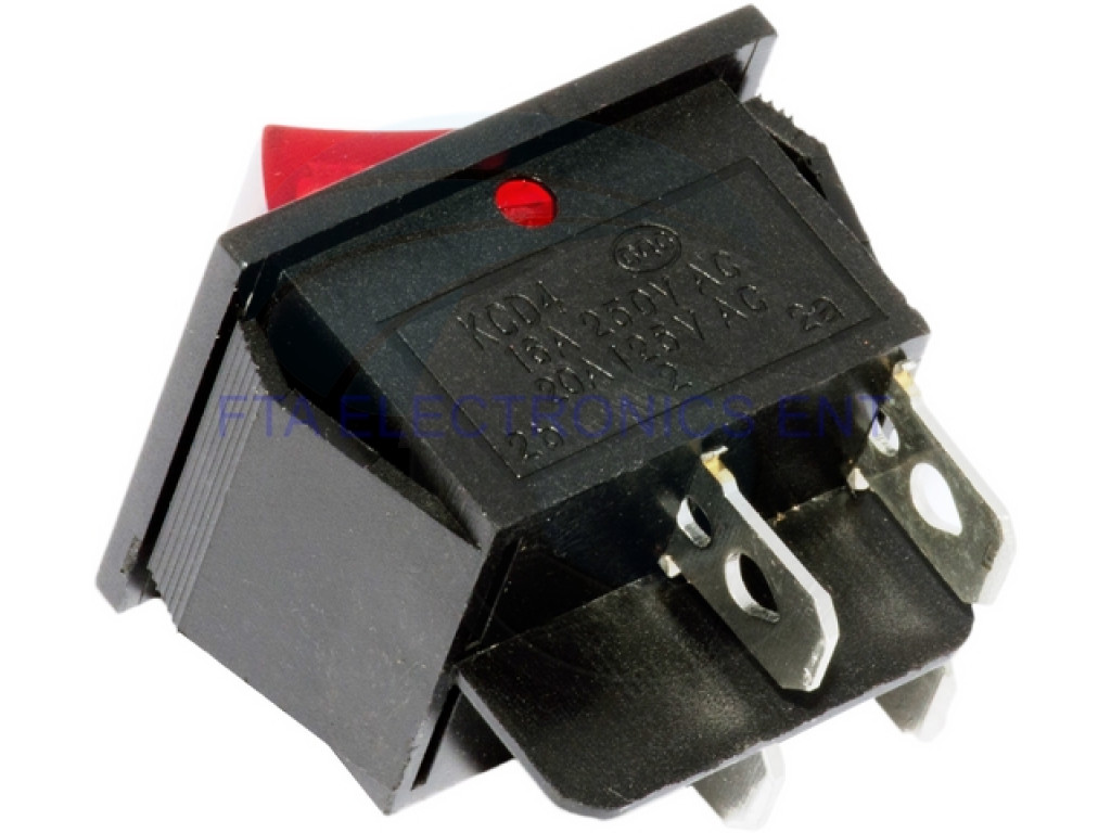 hight resolution of  red button on off 4 pin dpst boat rocker switch 16a 250v 20a 125v ac