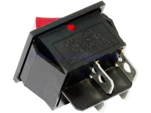 small resolution of  red button on off 4 pin dpst boat rocker switch 16a 250v 20a 125v ac