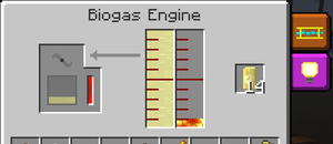 biogas engine feed the