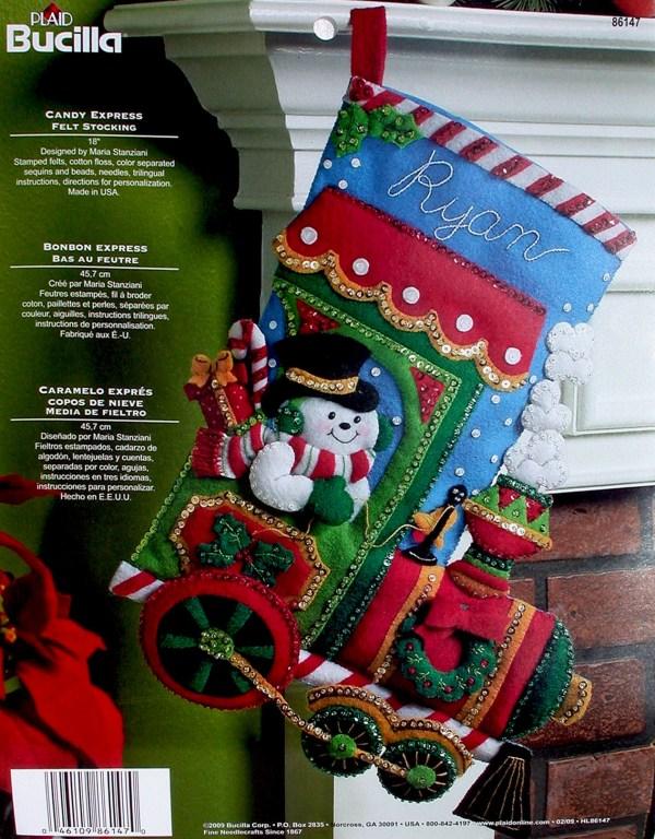 "Candy Express 18"" Bucilla Felt Christmas Stocking Kit"