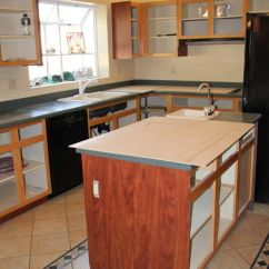 Refacing Kitchen Cabinets Cost Custom Built Cabinet Before And After