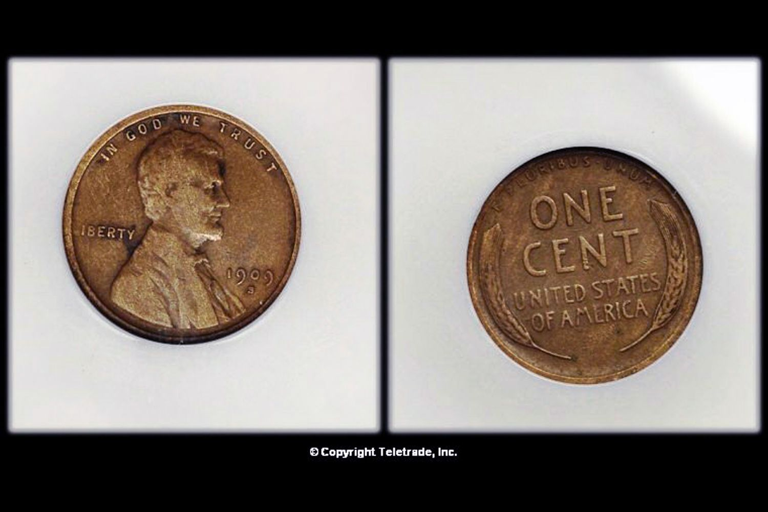hight resolution of  circulated lincoln wheat penny