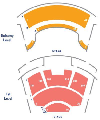Mesa Arts Center Theater Seating Charts