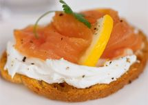 Tapas Smoked Salmon Appetizer Cream Cheese