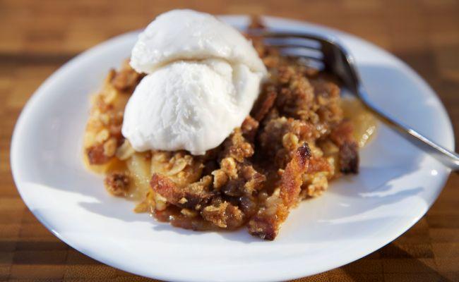 Cinnamon Apple Crunch Dessert Recipe