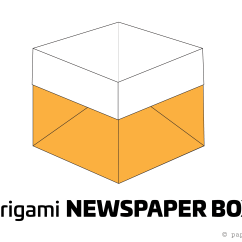 Folding Origami Box Diagram 3 Gang Way Light Switch Wiring Easy Newspaper Tutorial