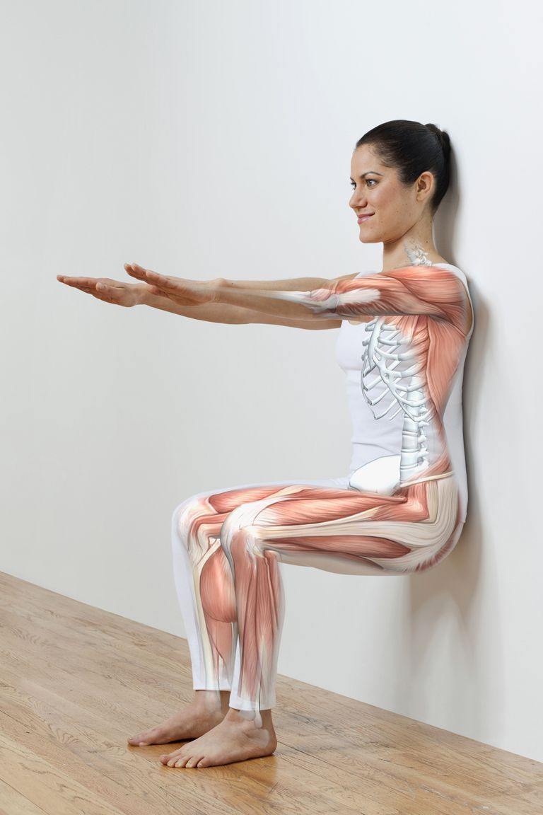 The Wall Sit Quad Exercise