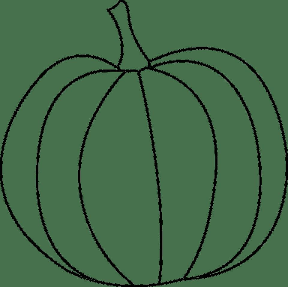 Free, Simple Pumpkin Digital Stamp