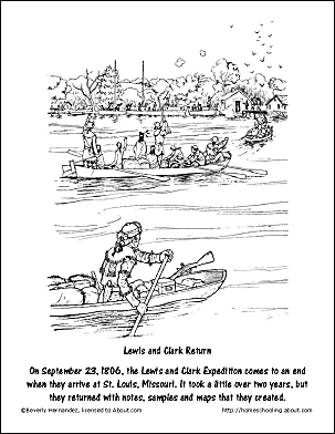 Lewis and Clark Worksheets and Coloring Pages