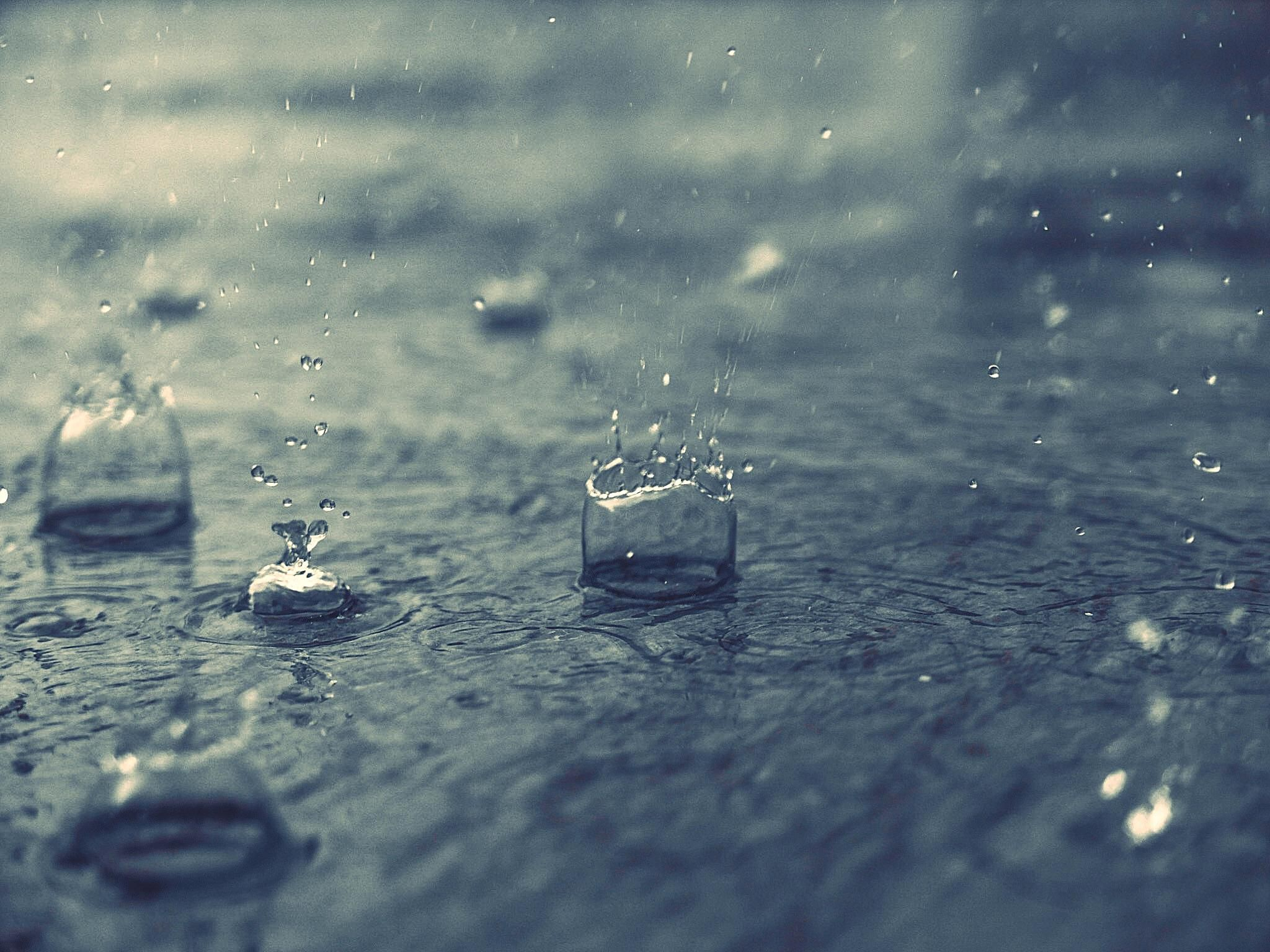 Raindrops Falling From The Sky Wallpaper Rain Snow Sleet And Other Types Of Precipitation