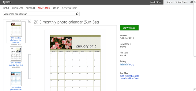 Microsoft Office Calendar Templates 2015 Free Download