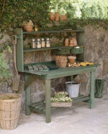Outdoor Potting Bench Idea
