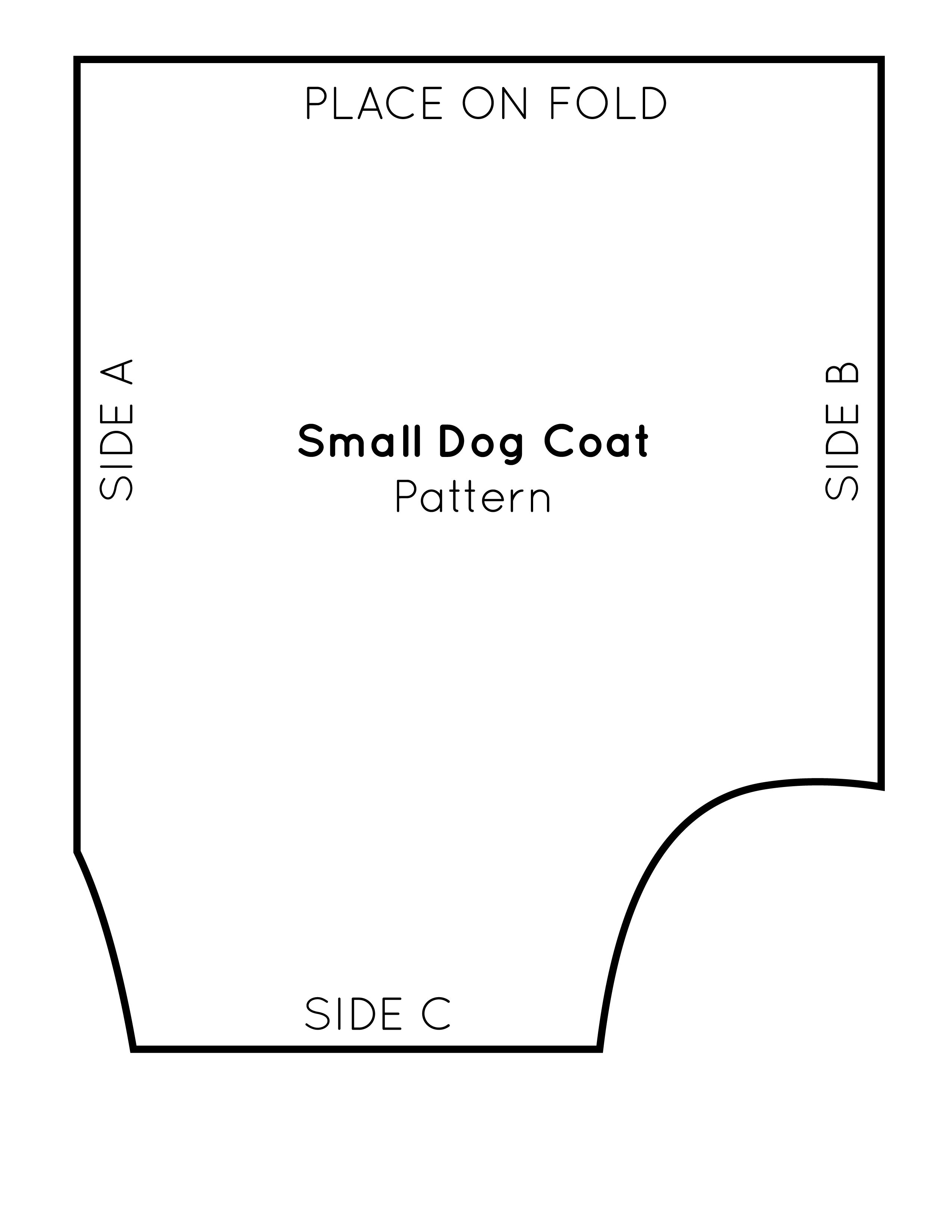 Printable Dog Harness Pattern