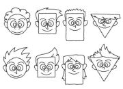 drawing cartoon faces with simple