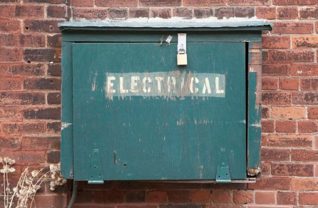 locked electrical box