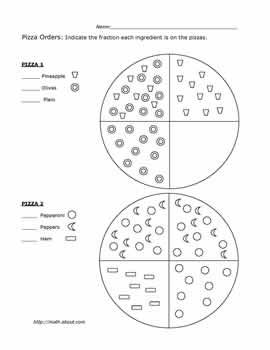 Teach Math With Pizza Fraction Worksheets