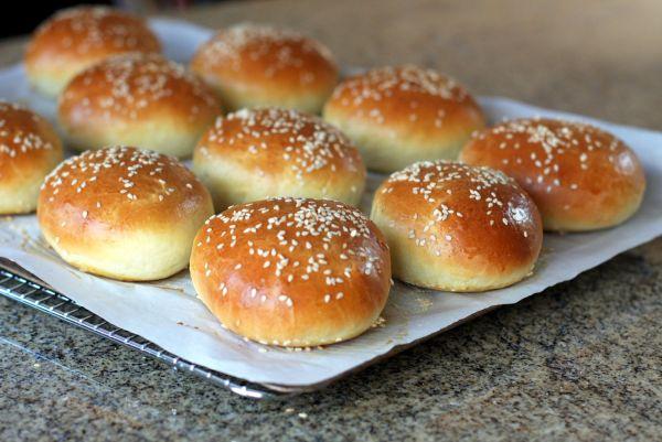 Buttery Brioche Hamburger Buns Recipe