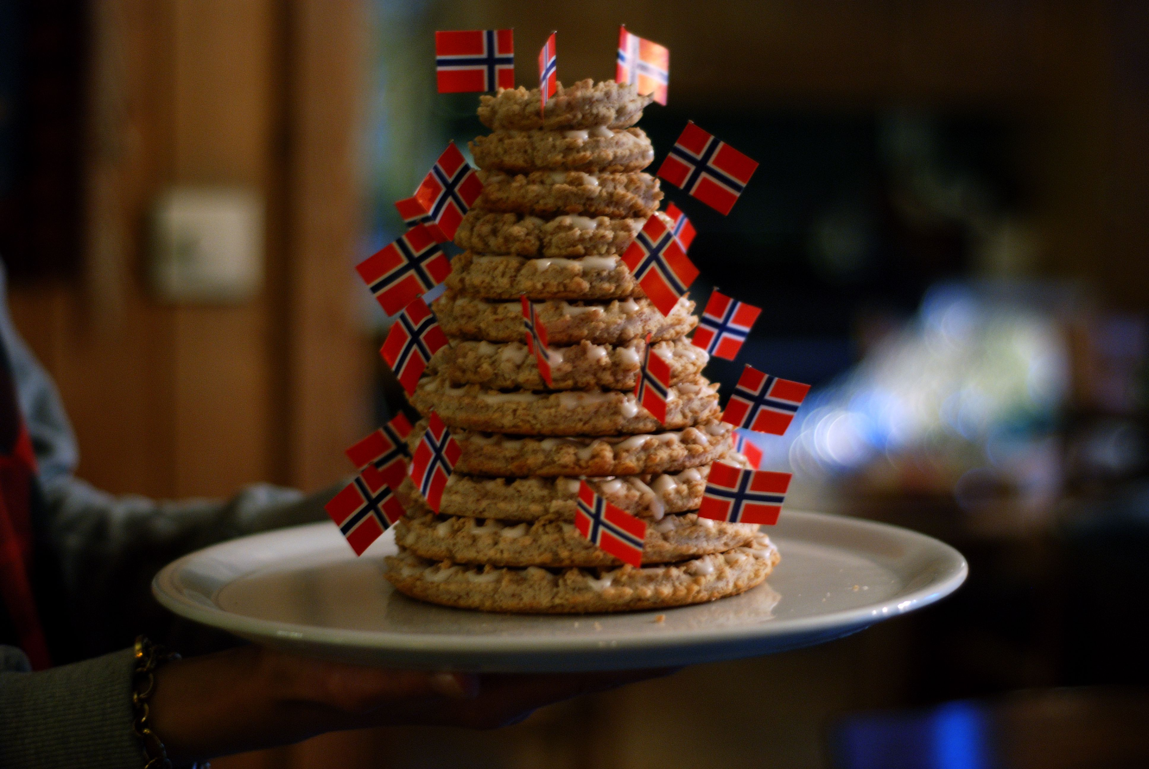 christmas decorating ideas for a small living room wall art decor norwegian kransekake, almond ring cake recipe