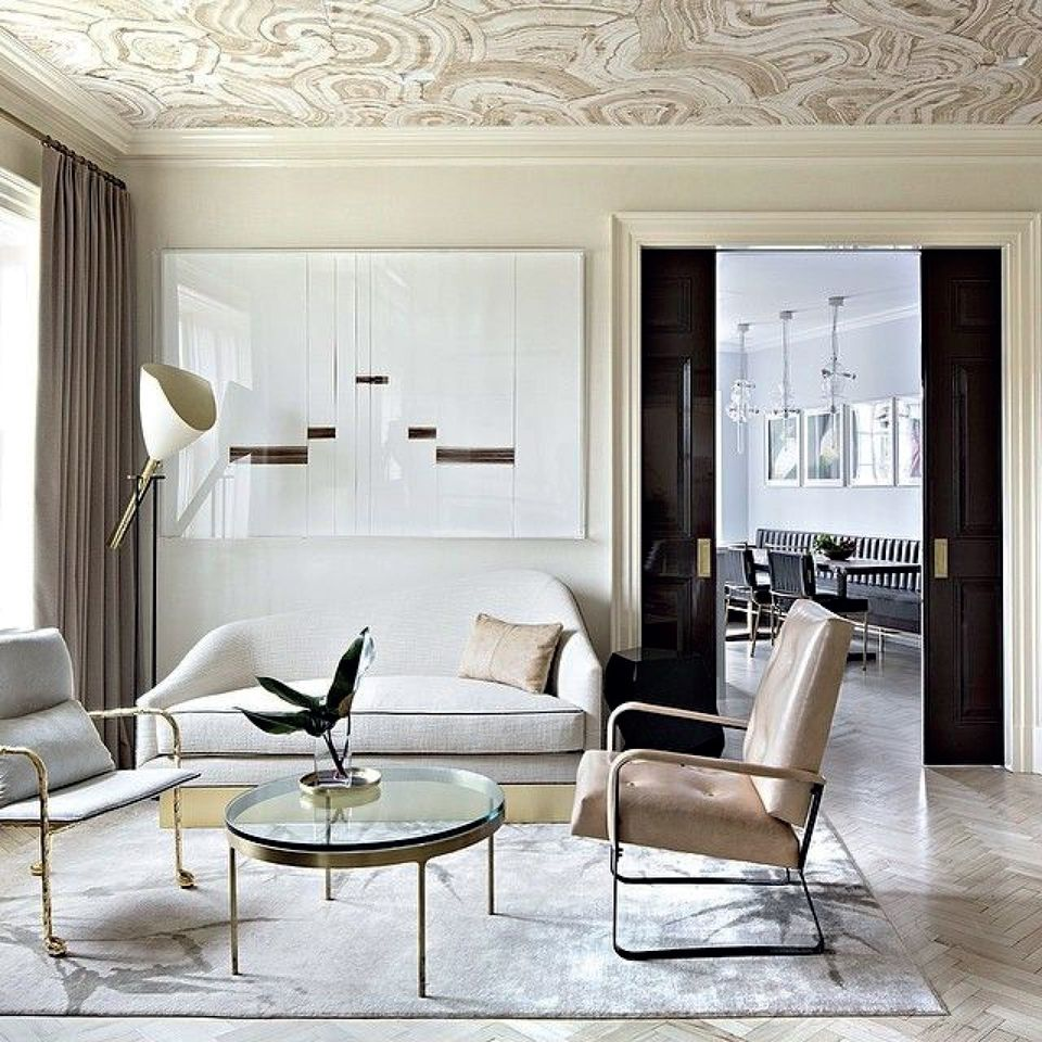 3d Effect Wallpaper For Living Room 6 Stunning Rooms With Wallpaper On The Ceiling
